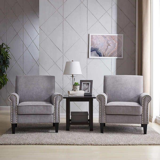 Groovy Monroe Fabric Club Chair 2 Pack Gray Club Chairs Chair Pdpeps Interior Chair Design Pdpepsorg