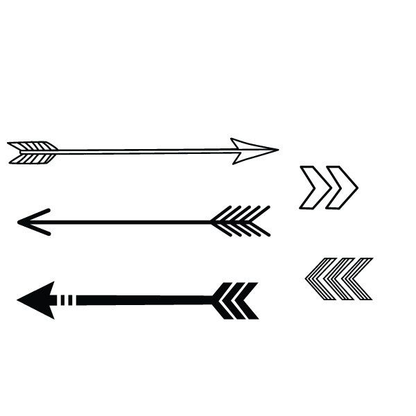 2b9276a654733 arrow tattoos | Request a custom order and have something made just for you.