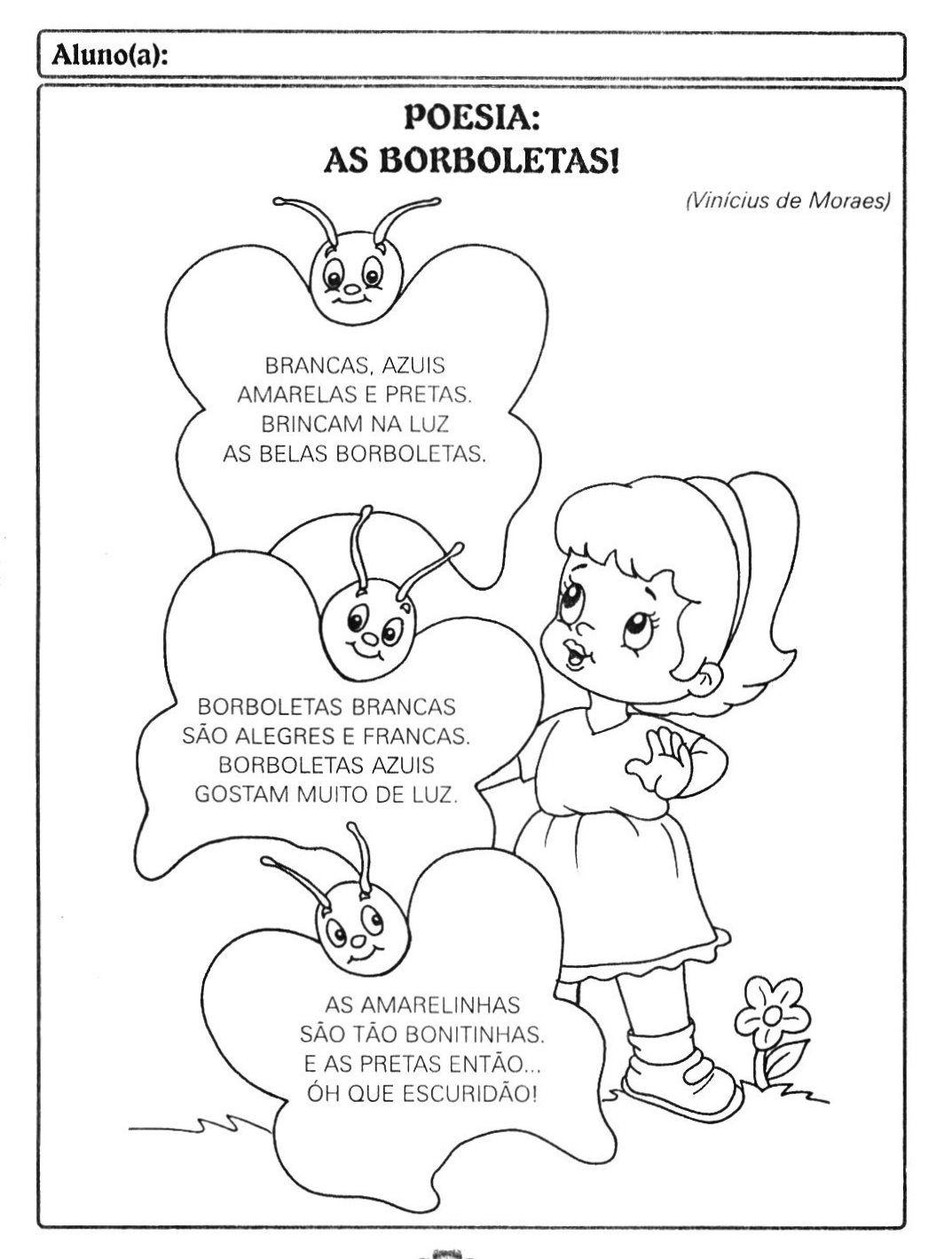 Preferência Resultado de imagem para poesia nome educação infantil | Poemas  HF52