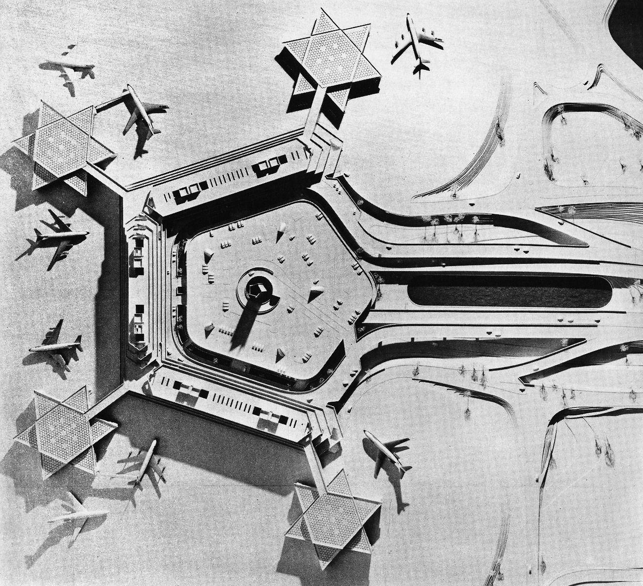 Cologne Bonn Irport 1966 70 Paul Schneider Esleben Architecture Books Architecture Model Gothic Architecture
