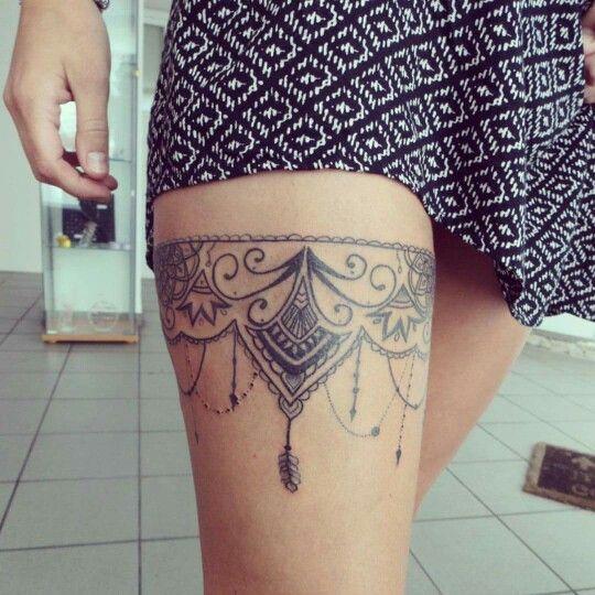 Jartiere Lace Garter Tattoos Tattoos Thigh Tattoo