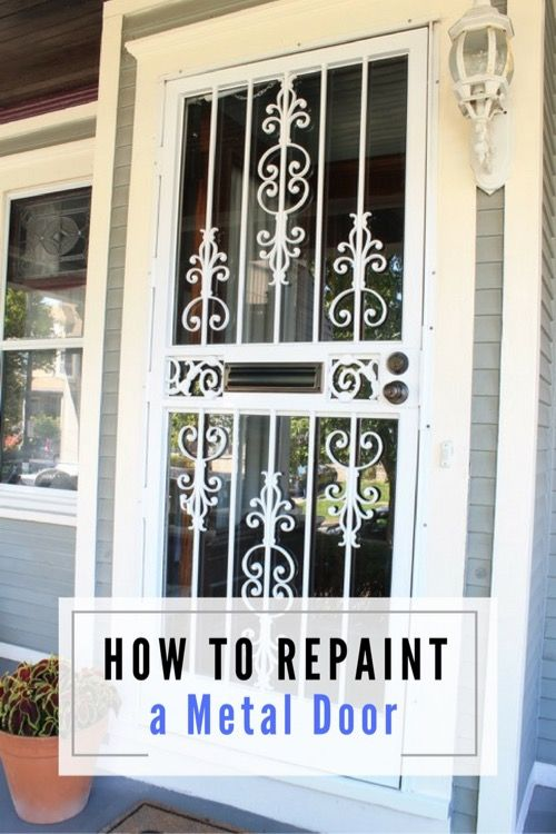 How To Repaint A Metal Storm Door... I Really Need To Repaint Ours!!