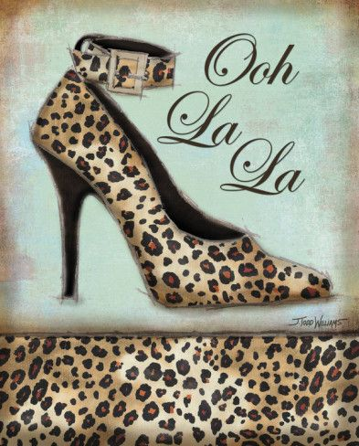Leopard Shoe Prints by Todd Williams at AllPosters.com