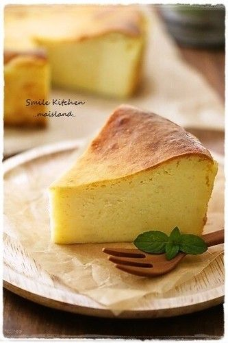 A Chilled cheam cheese and sweet potato cake.