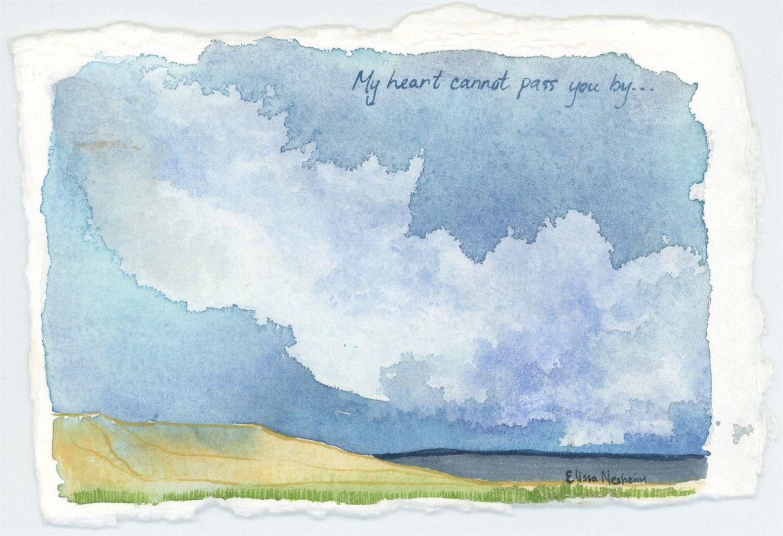 Original Watercolor Painting Mojave Desert Landscape