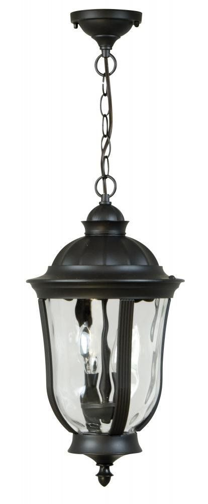 Craftmade Z6011 92 Hanging Lantern With Clear Water Glass Shades Bronze Finish Pendant Porch Lights Amazon Craftmade Porch Lighting Outdoor Light Fixtures