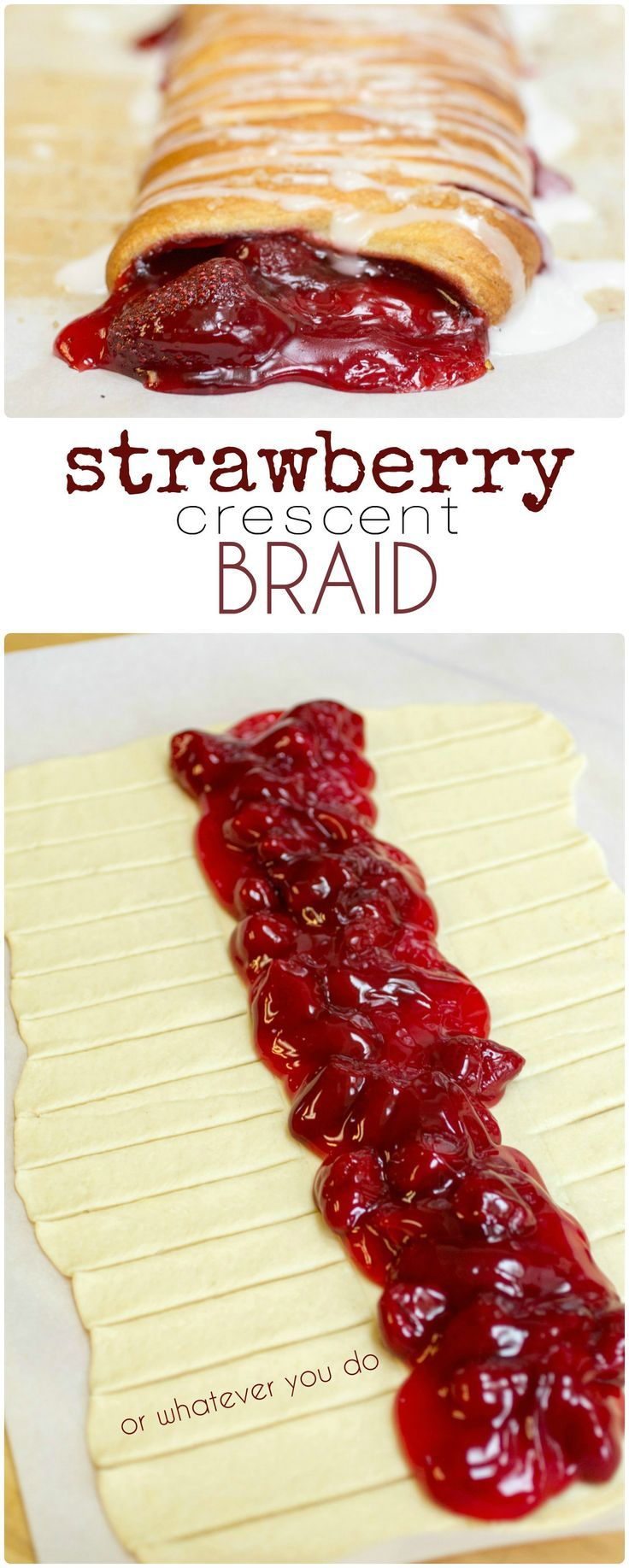 strawberry crescent braid crescent bread crescent rolls 4 ingredients ...