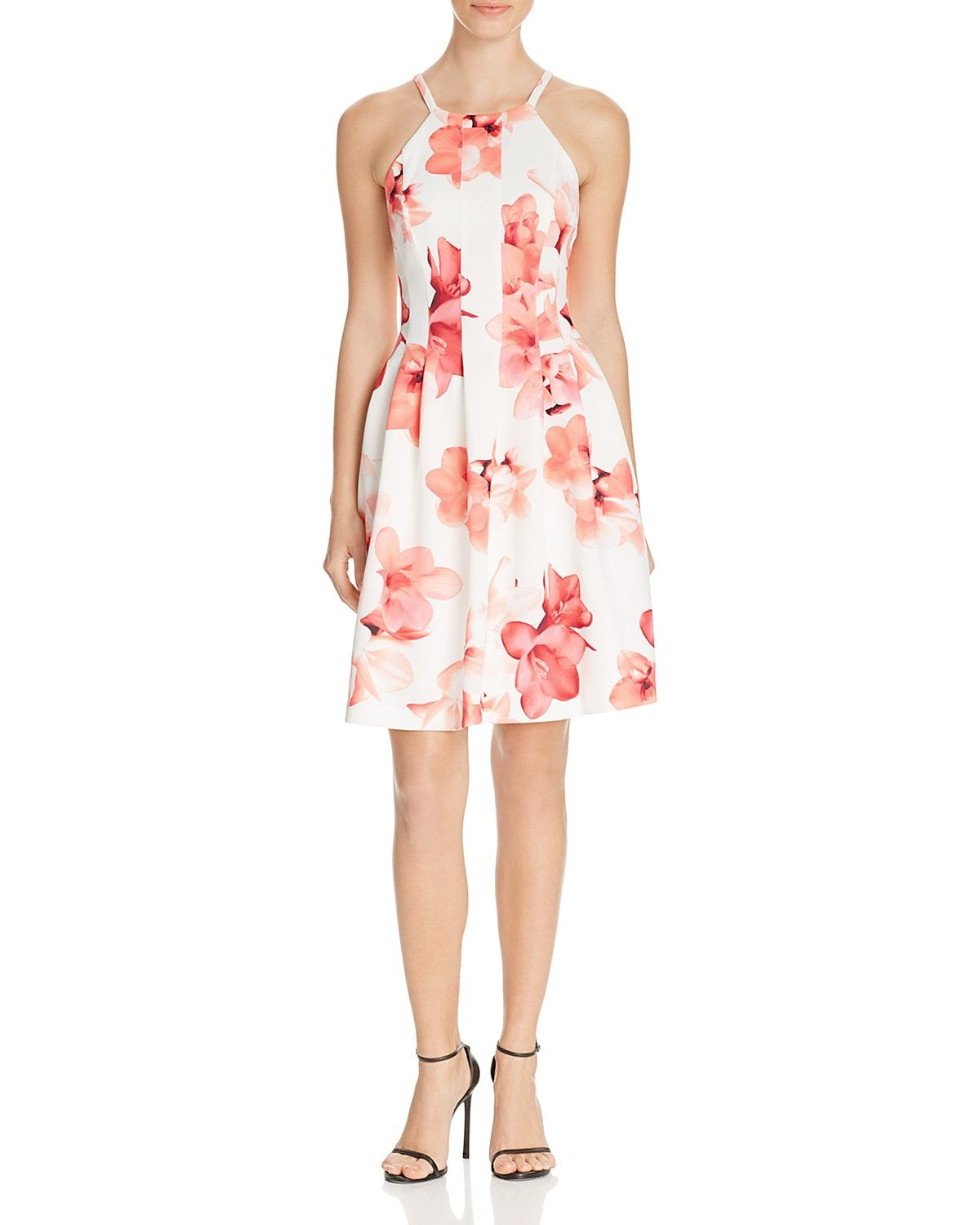 7204277072a Calvin Klein Floral Fit and Flare Dress - 100% Bloomingdale s Exclusive