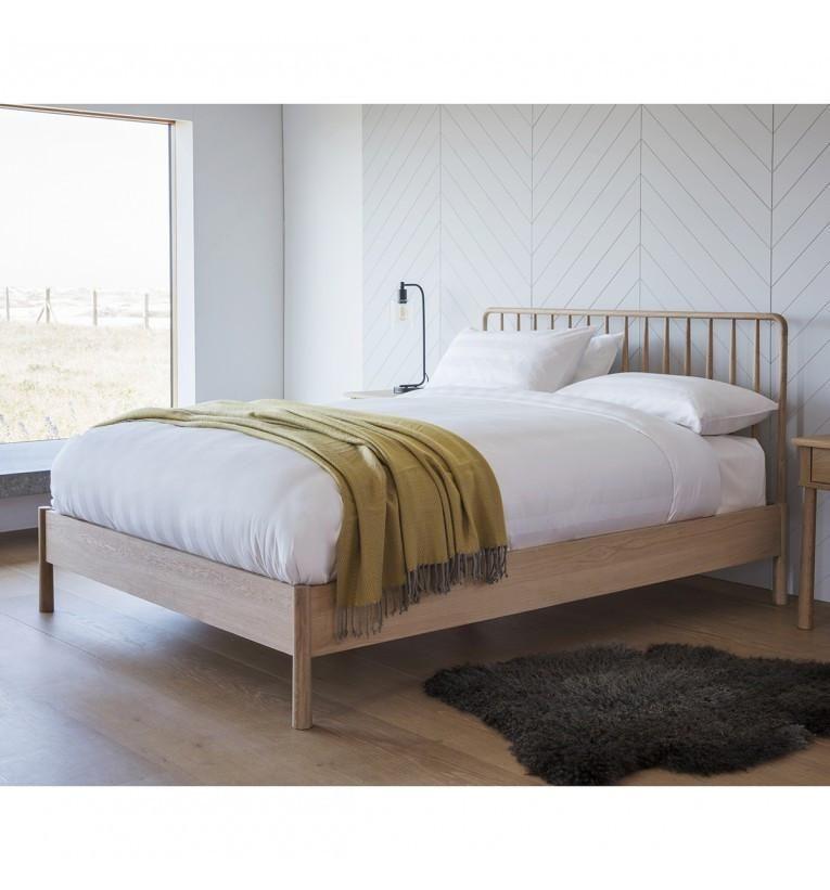 Wycombe Oak Superking Spindle Bed Frame Frame 6 Oak Bed Frame