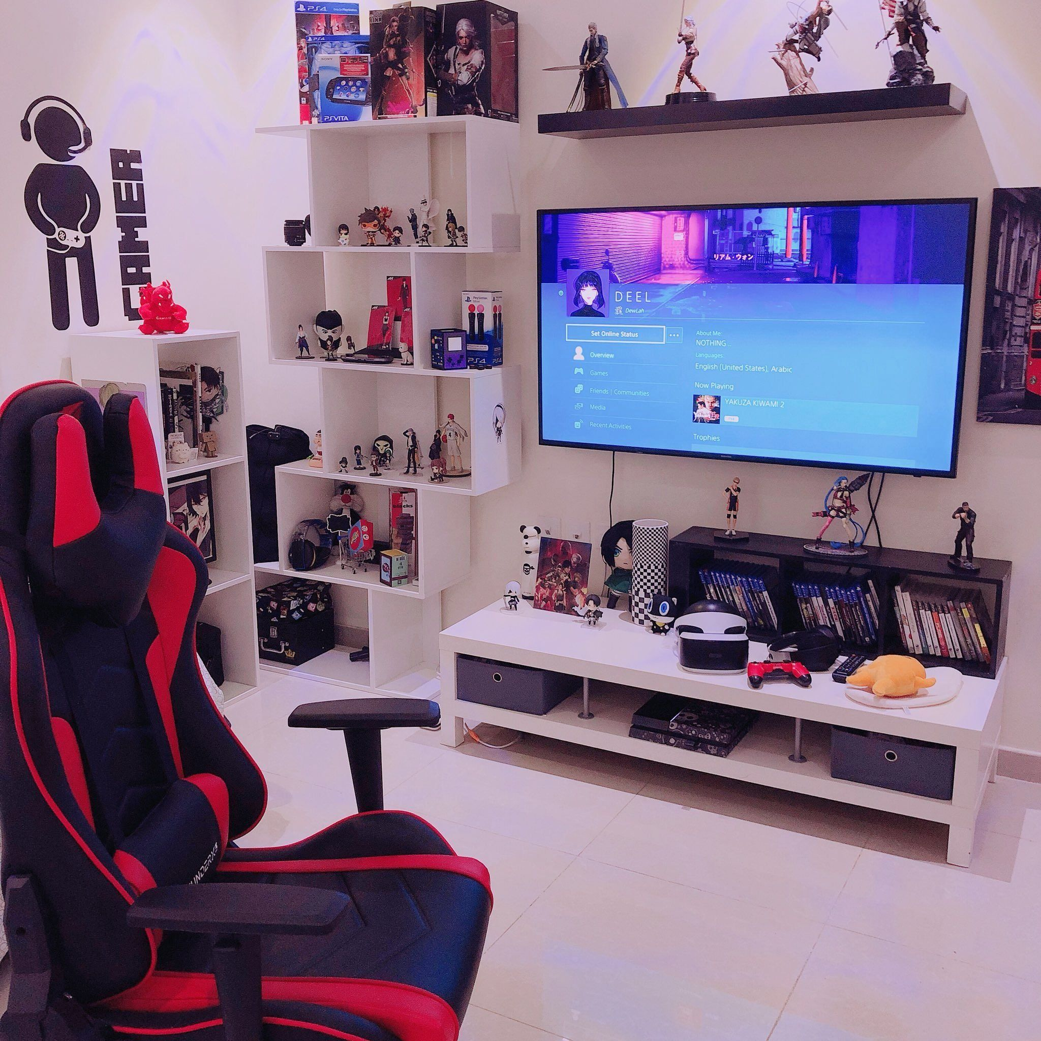 Home house & components rooms bedroom every editoria. | 1000 | Small game rooms, Playstation room, Game room decor