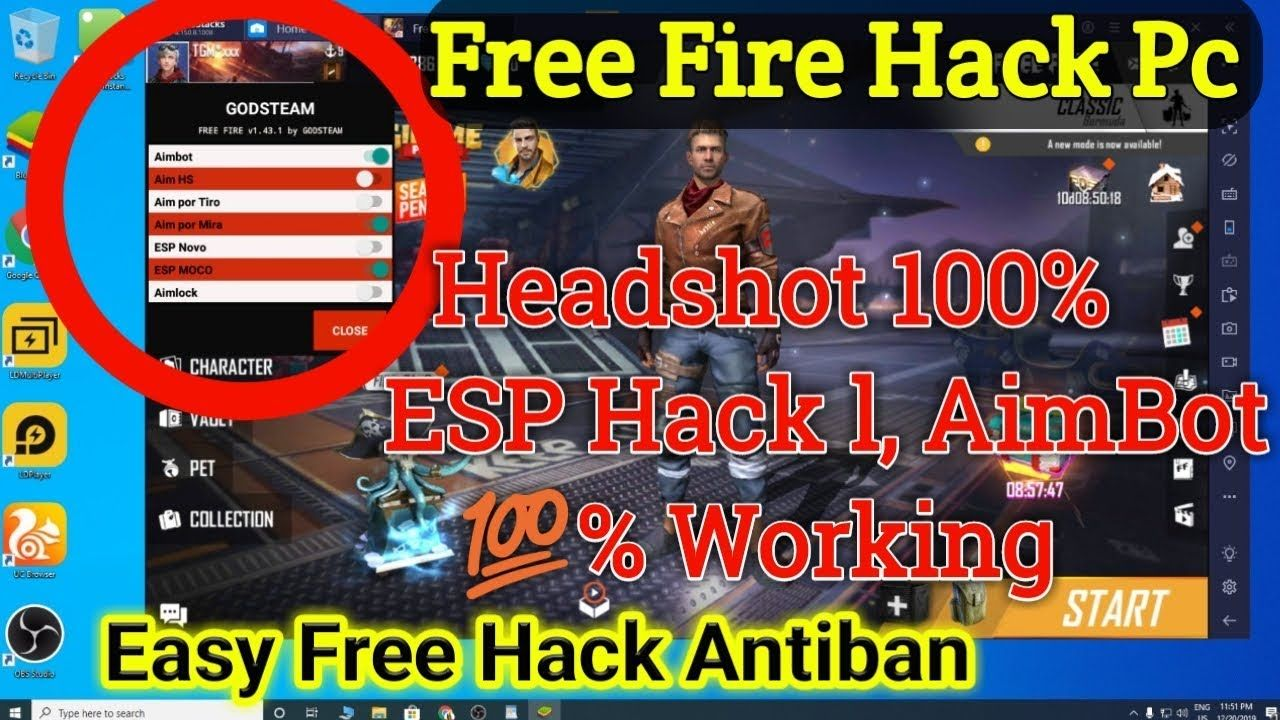 How To Hack Free Fire Emulator Pc Bluestacks Ldplayer Gameloop Hack Free Characters Hack Free Money Free Itunes Gift Card