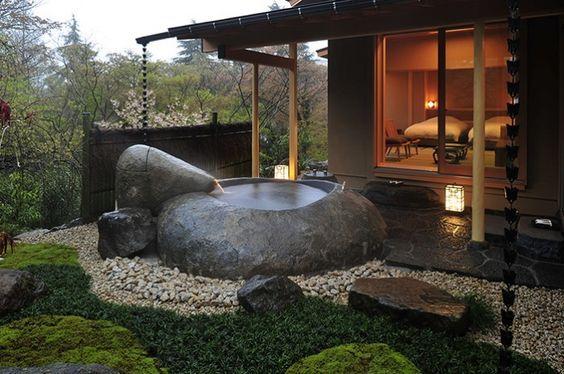 Vasche Da Bagno Zen : Giappone] i bagni zen dellhotel gôra kadan vasca allaperto in