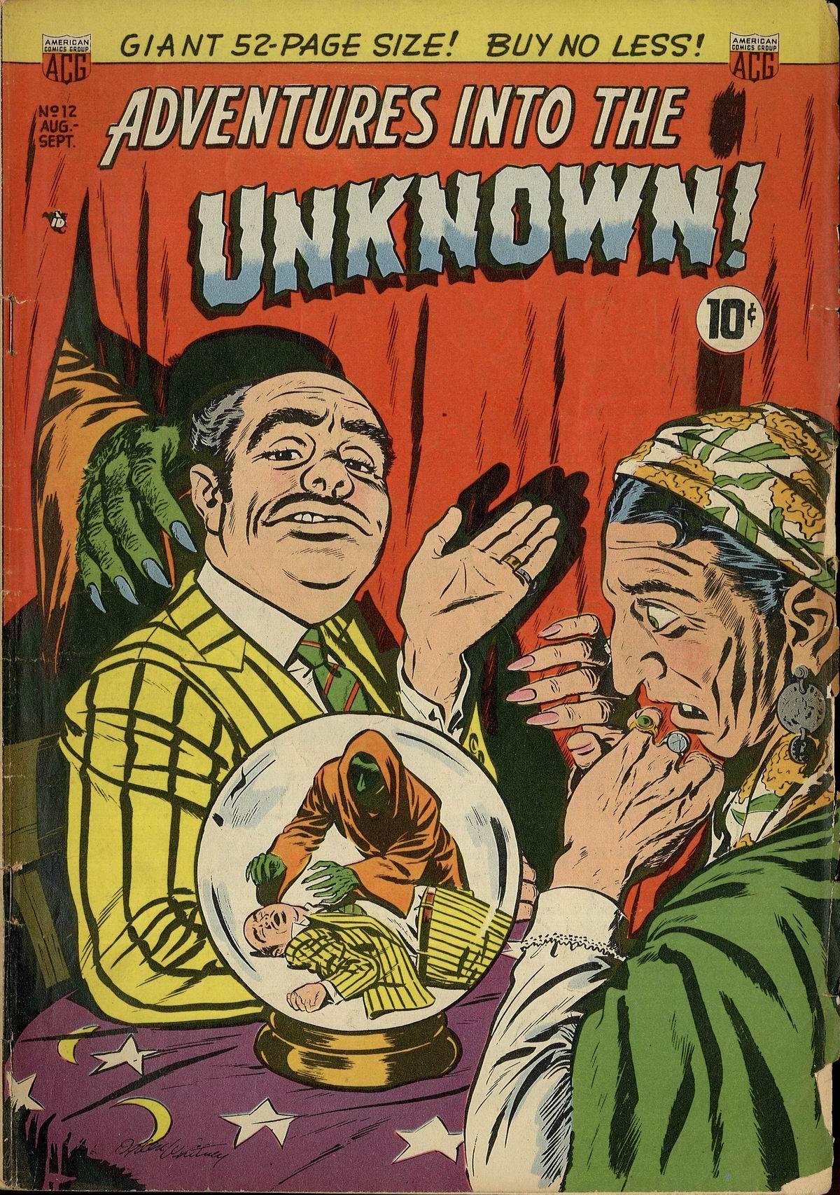Adventures into the unknown 1950s comic lol comic books