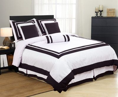 Best Black White Bedspread White Bedding Hotel Comforters 400 x 300