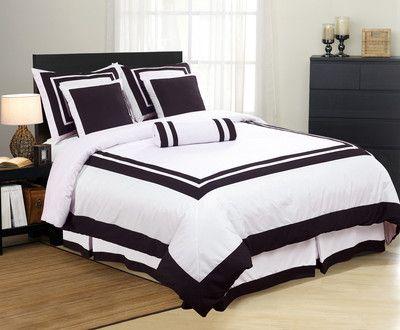 Best Black White Bedspread White Bedding Hotel Comforters 400 x 300
