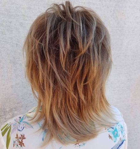 medium bronde shag for fine hair in 2020  modern shag