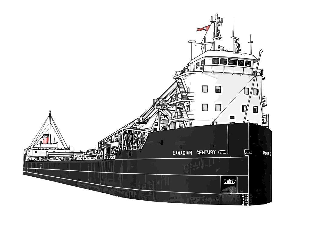 Canadian Century vector drawing Great lakes ships