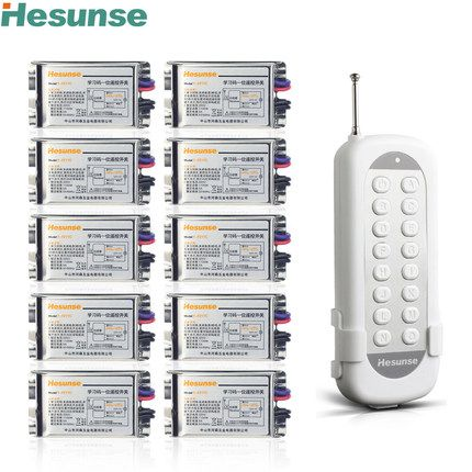 Y F211c1n10 220v 7a 315mhz 10 Channels Wireless Rf Remote Control Switch Disconnect Switch Learning Code Switch 110v Affi Code Switching Coding Remote Control