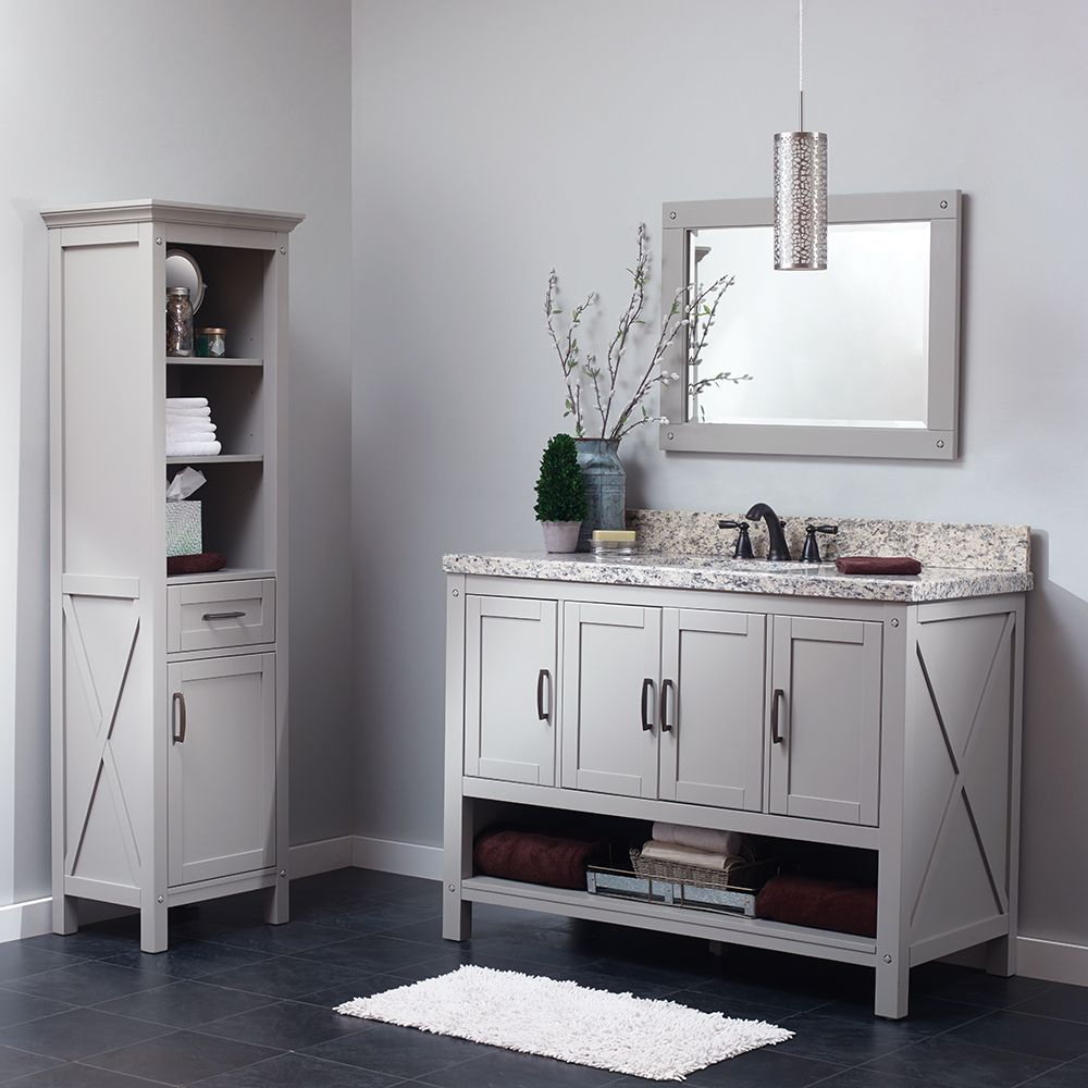 The Rayna Vanity blends a dash of industrial style with