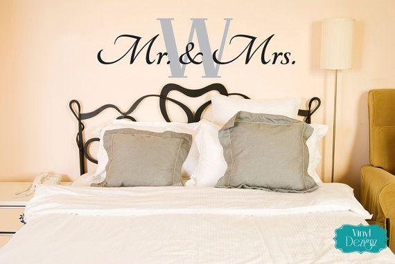 Mr. & Mrs. Wall Decal, Master Bedroom Vinyl Decal, Vinyl ...