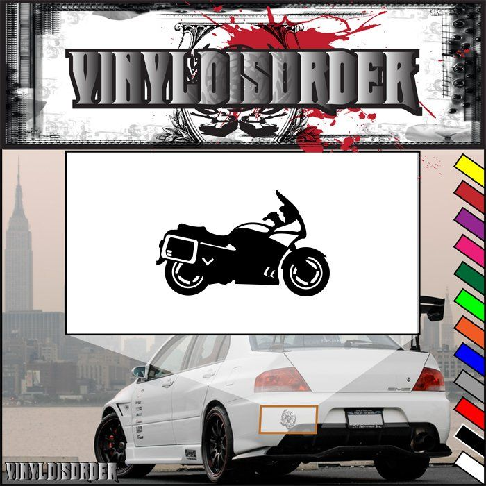 Motorcycle Wall Decal - Vinyl Decal - Car Decal - CD37