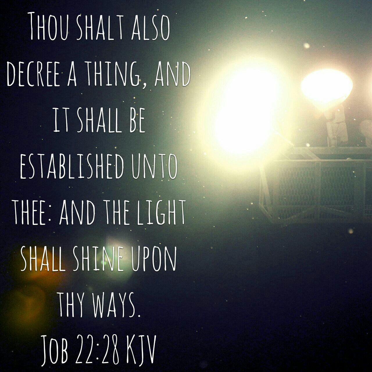 Image result for Declare a thing kjv Job 22:28 kjv pinterest
