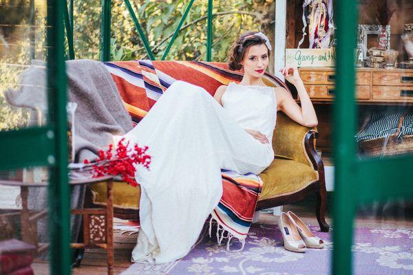 Christmas bride ¡Love it! {Foto, En Route Photography} #weddinginspiration #brides #novias #tendenciasdebodas
