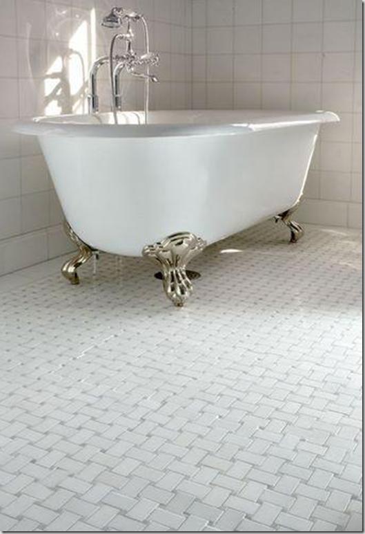 Basketweave Bathroom Tile    I Like This Floor