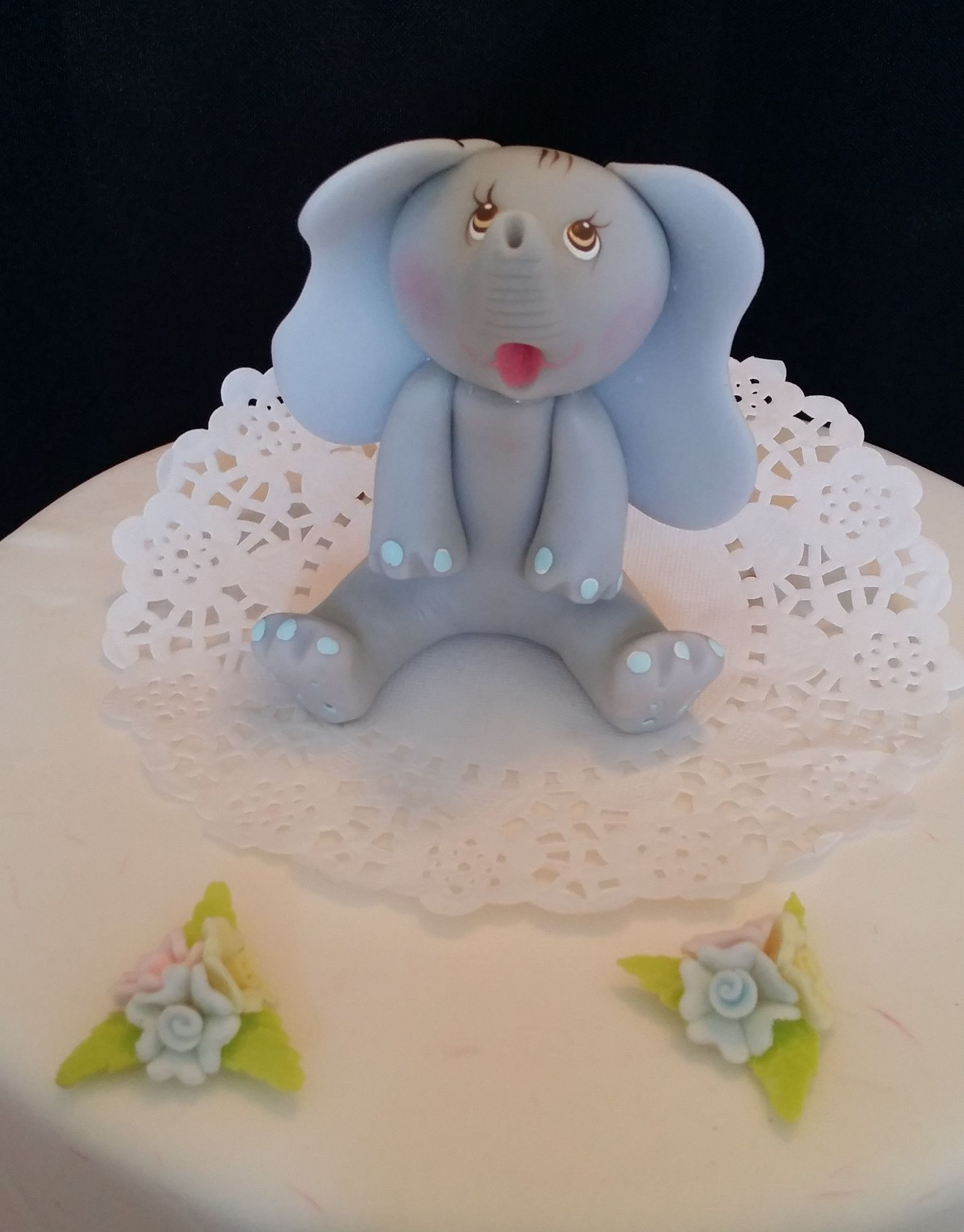 Elephant Cake Topper Made Of Cold Porcelain Great For Elephant