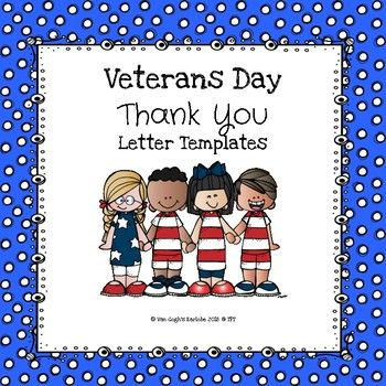 (Freebie) Veteran's Day Thank You Letter Templates | Thank ...