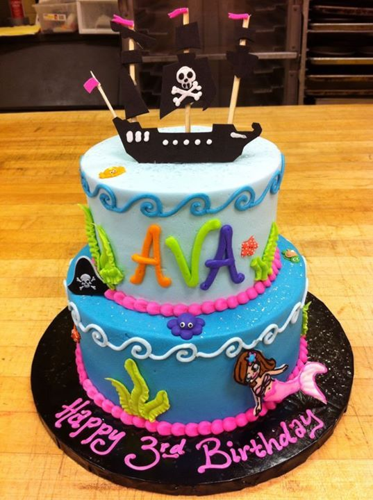 The Cutest Pirate Mermaid Cake Ever HomeStyle Bakery Nashville TN