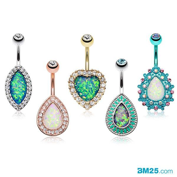 New Opal Belly Rings Collection at  Belly piercing ring