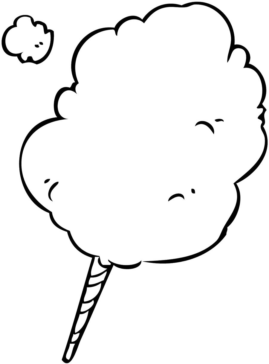 Cotton Candy Coloring Page could be seuss like too | Circus ...