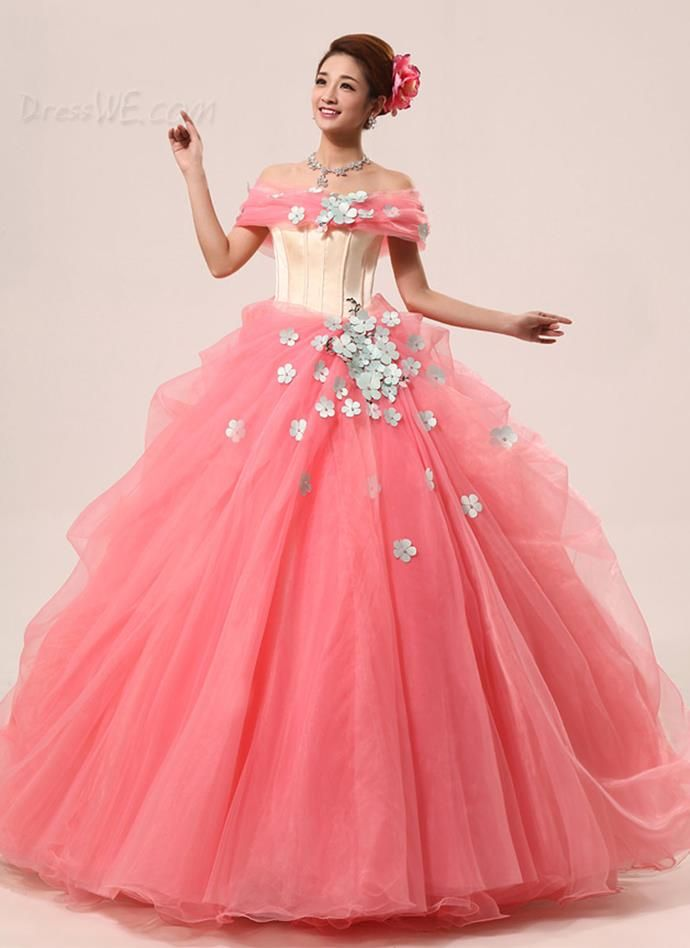 Sweet Appliques PLeats Off Shoulders Lace-up Sleeveless Floor Length ...