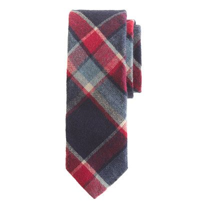 Cotton-wool tie in navy twilight plaid | products ...