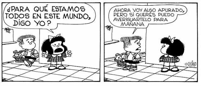 Resultado de imagen para mafalda y el mundo de preguntas