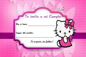 Invitacion Hello Kitty3 Invitaciones De Cumpleaños