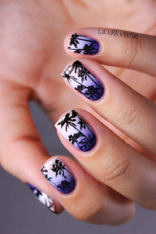 40 Palm Tree Nail Art Ideas | Nails Art Desgin | Pinterest | Palm ...