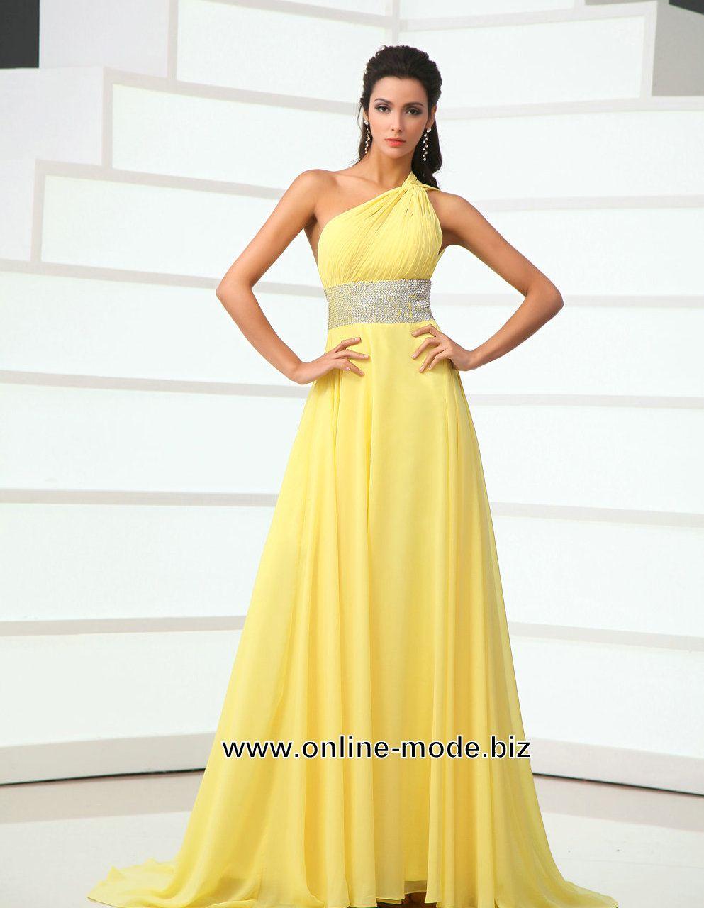 Damen Kleid Abendkleid in Geb von www.online-mode.biz | Dresses ...