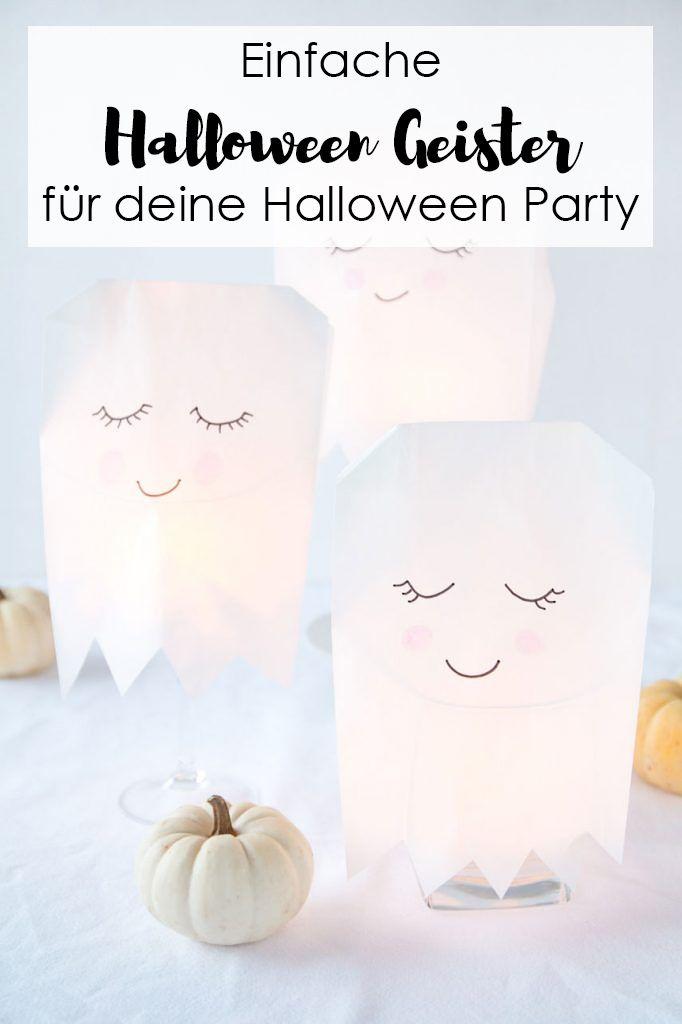 Niedliche Halloween Geister Aus Papiertuten Ars Textura Diy Blog Halloween Deko Basteln Papiertuten Basteln Halloween Deko Geist