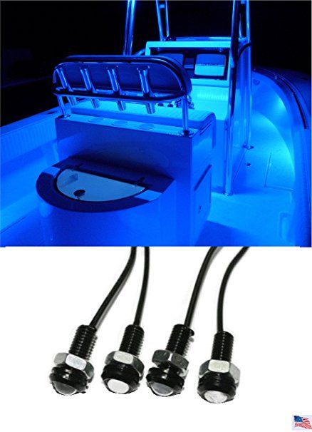 These 4x Blue Led Boat Light Waterproof 12v Look So Cool On Boats At Night Https Www Amazon Com Light Waterproo Boat Lights Led Boat Lights Boat Accessories