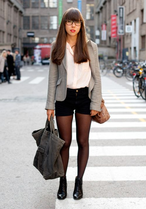 high waisted shorts and blazer - Google Search | Clothes - Fashion ...