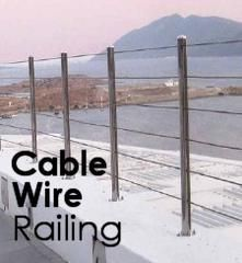 Cable rail is a beautiful, sleek, modern addition to any stairway, landing, or deck. Stainless steel cable railing compliments most types of settings and is a flattering accent to steel, stainless steel, aluminum, and wood.
