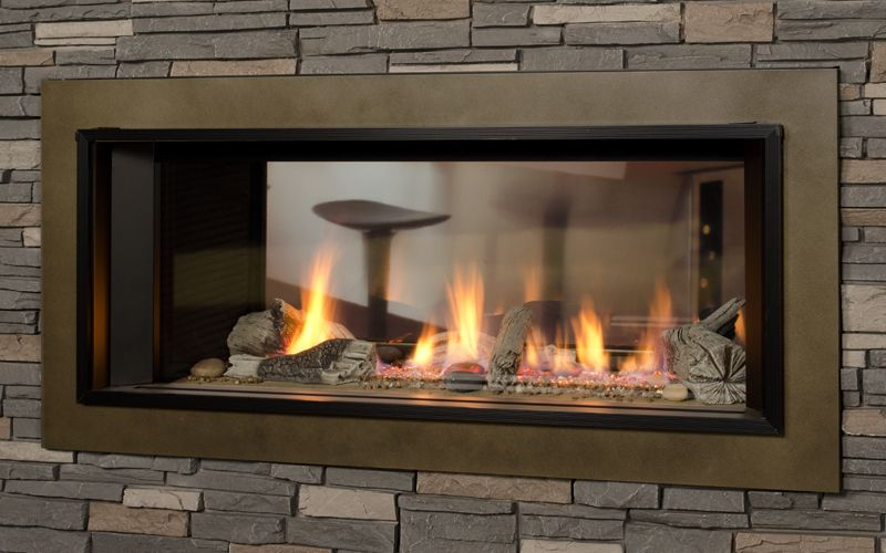 1600i L1 Linear 2 Sided Series Valor Fireplaces L1