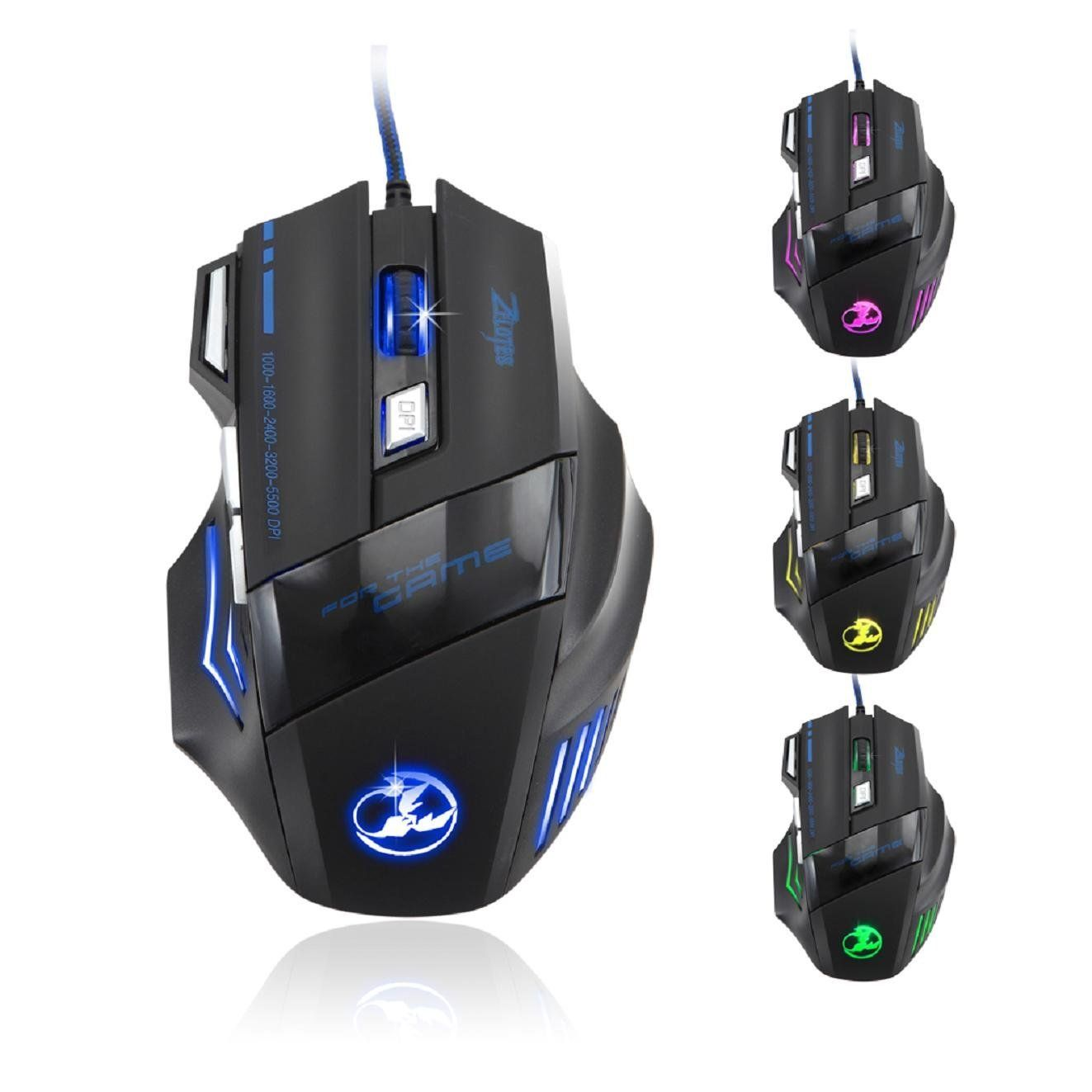 7 Buttons Adjustable DPI Ergonomic Professional Gaming Mouse