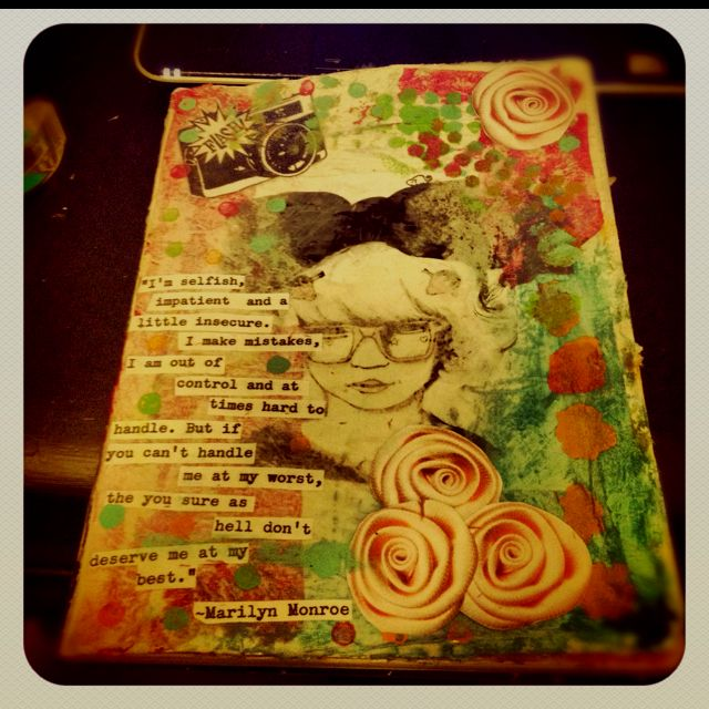 My first entry in my own art journal. ...