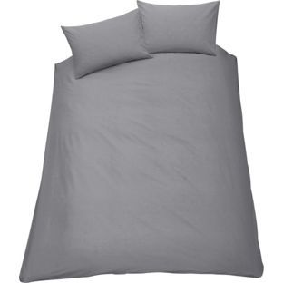Colourmatch Smoke Grey Duvet Cover Set Argos This Would Look Good With Golden Walls And Plenty Of Colour Eg