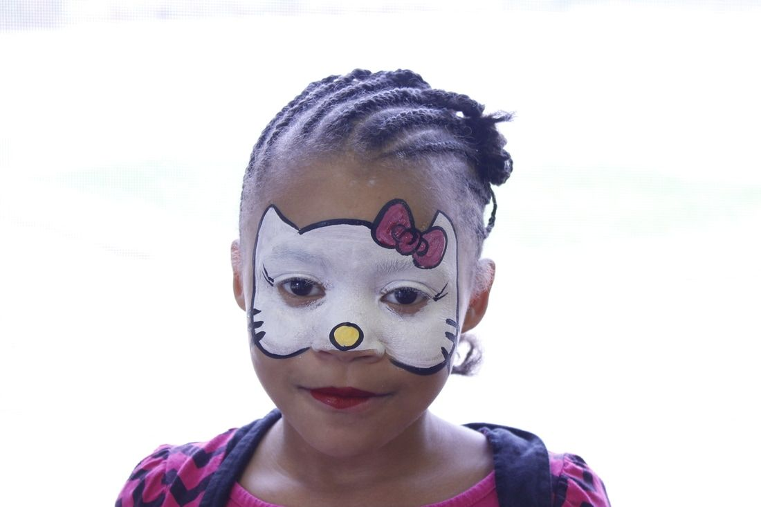Hello Kitty Face Painting Design. Milwaukee Face Painter CaBeatrice Hart Evolutions Paint, Evolutionz Face & Body Art