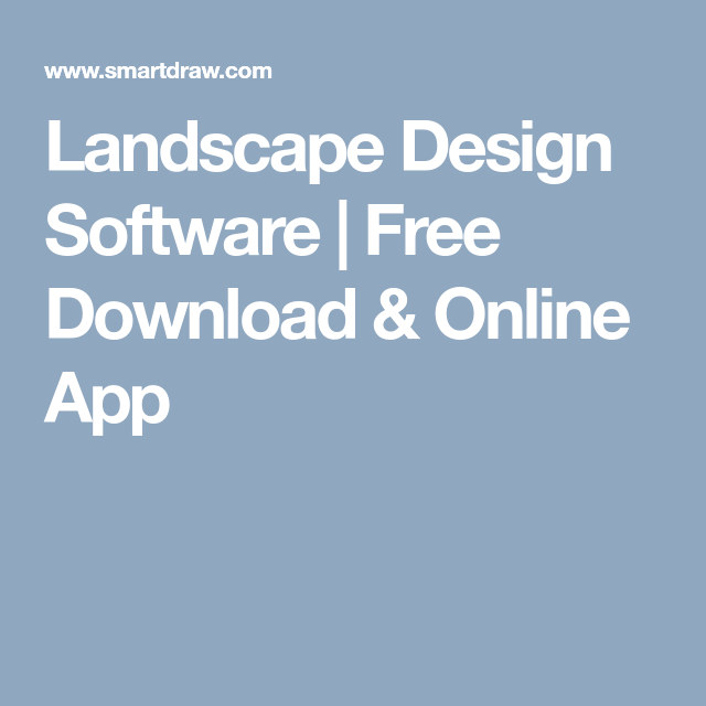 Landscape Design Software Free Download & Online App