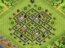 Farming Base Townhall 9 Th 9 Clash Of Clans Base Layout Clash Of Clans Clash Of Clans Hack Clan